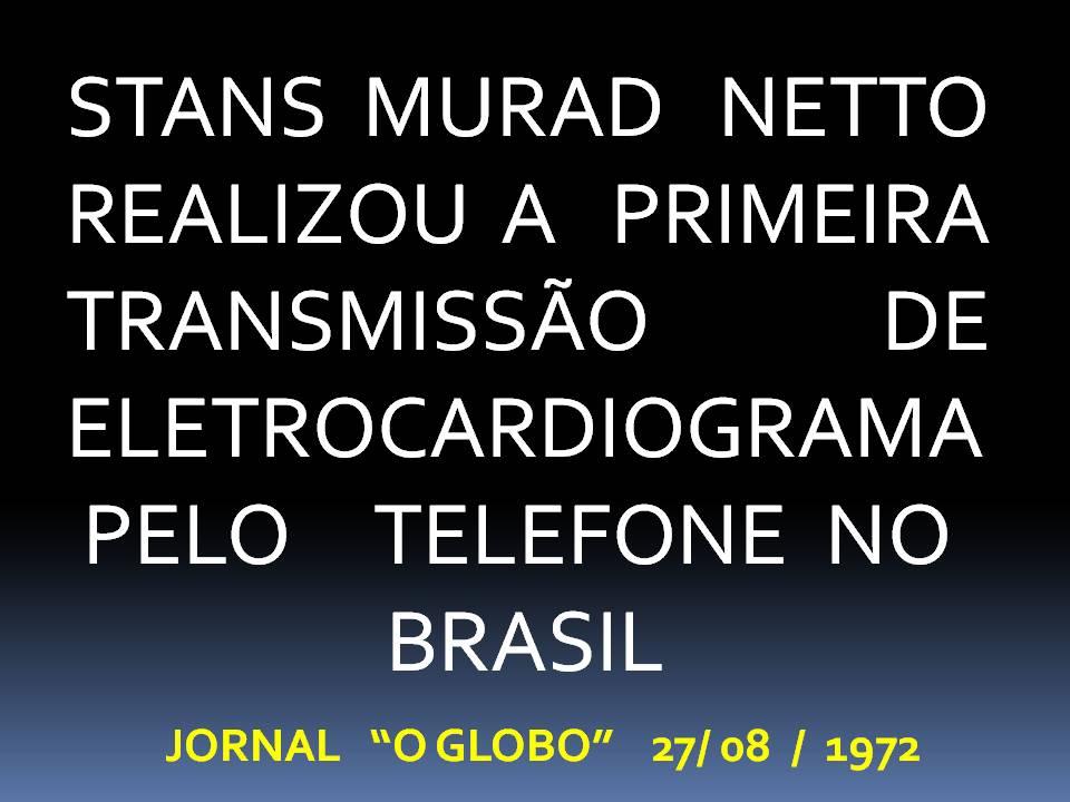 Primeira transmissão de eletrocardiograma pelo telefone no Brasil