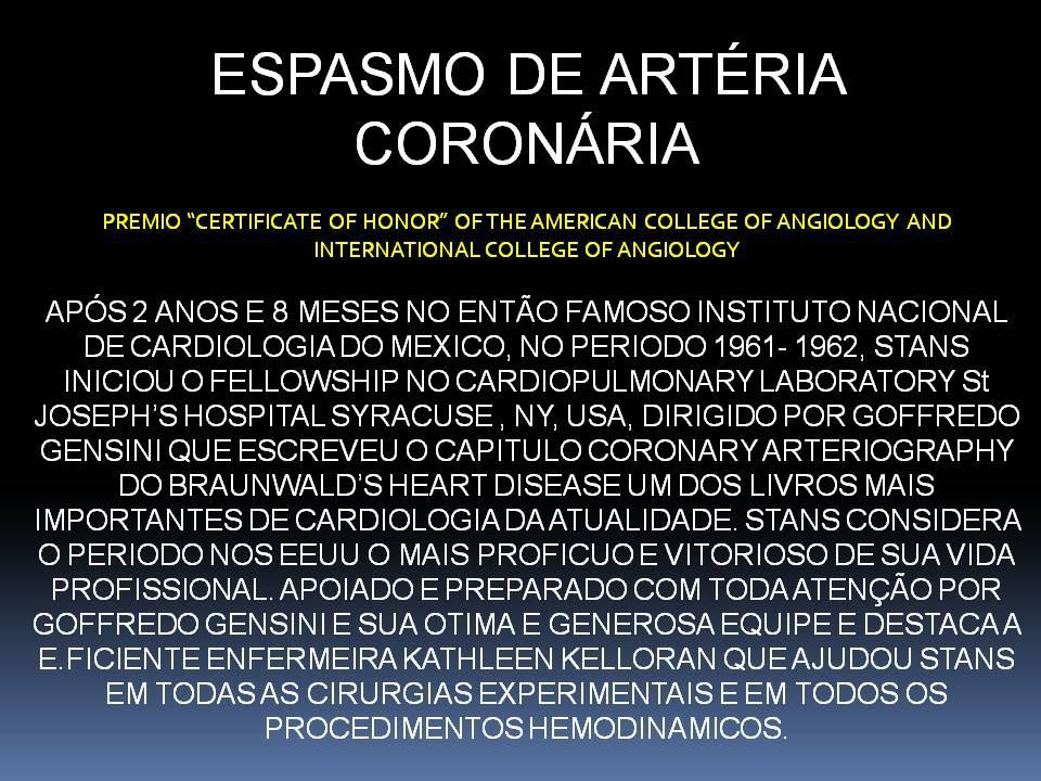 Espasmos de artéria coronária